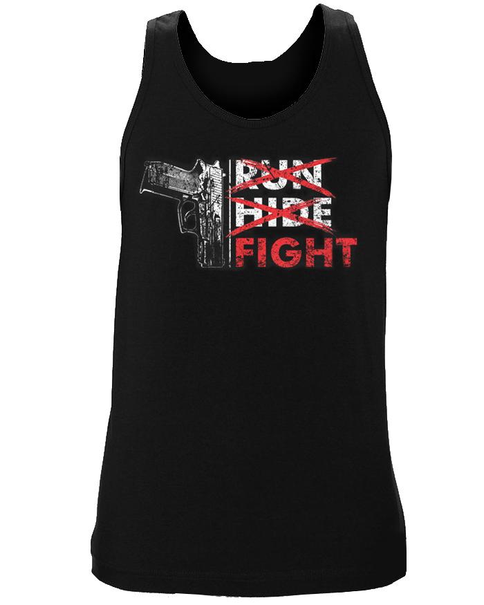 Run Hide FIGHT Tank Top